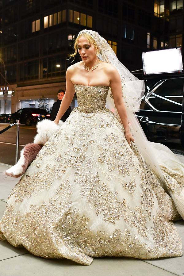 Jennifer Lopez Looks No Less Than A Disney Princess In This Ethereal Wedding Gown