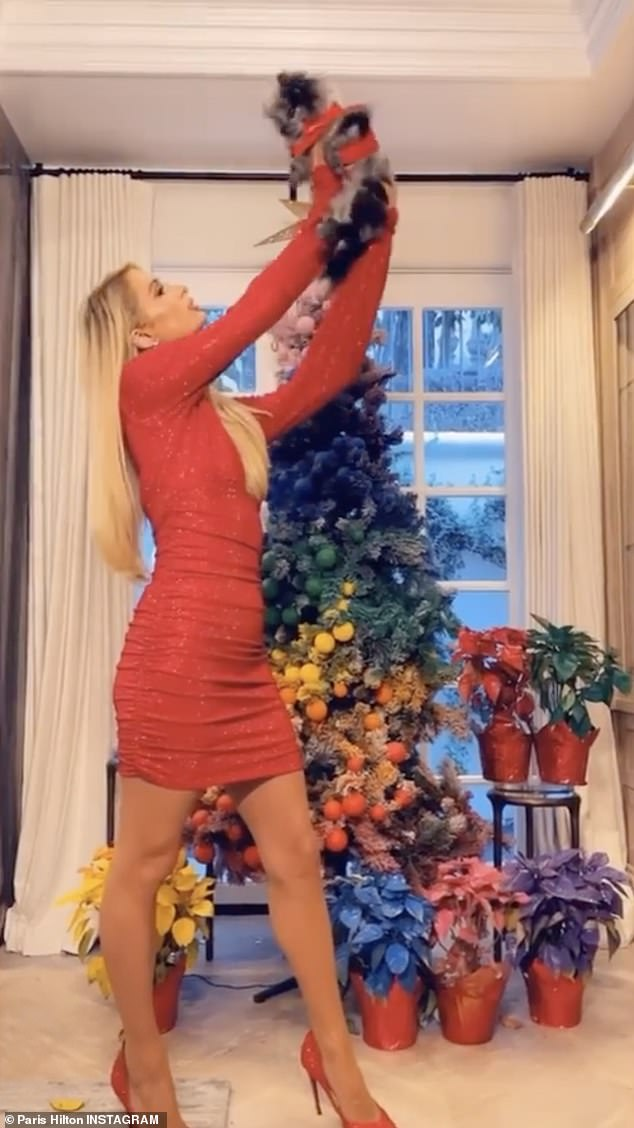 Paris Hilton and Miley Cyrus Flaunt Their Very Racy Christmas Outfits!!! Get Their Fun Pics Here!!!
