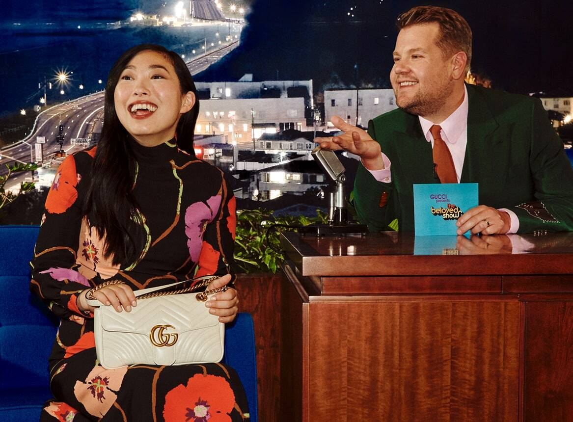 Harry Styles joins James Corden's Gucci syndicated program with other celebs!!! PICS here!!