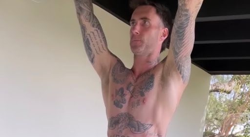 Adam Levine's Shirtless Workout Session Will Get Your Heart Pumping