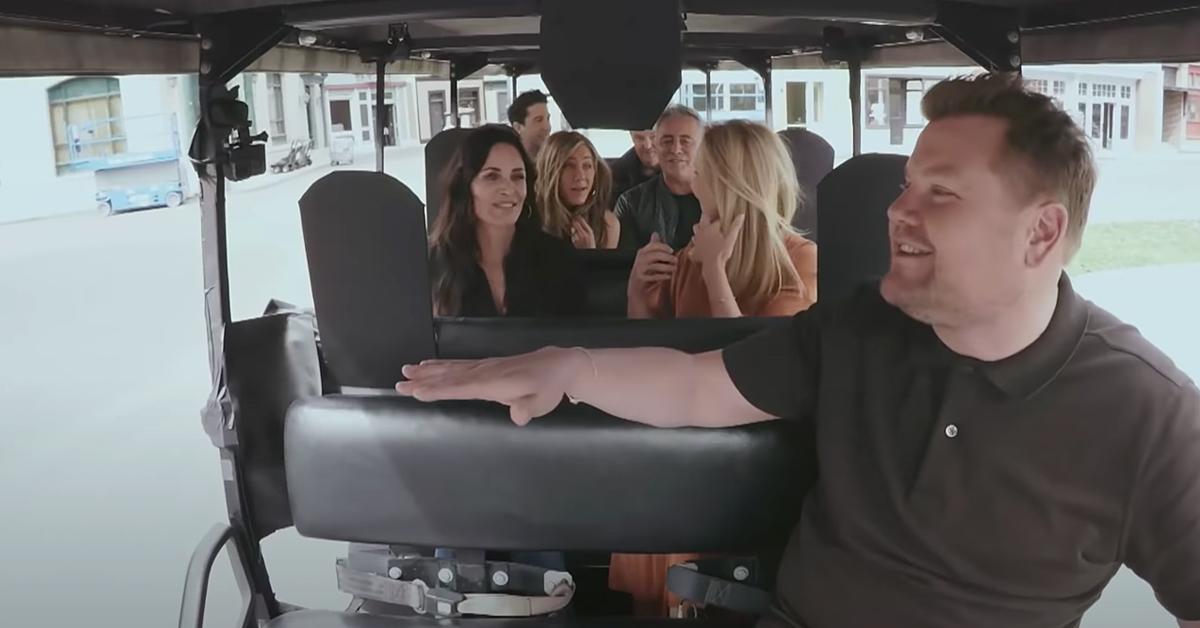 Friends Cast At The James Cordon Show