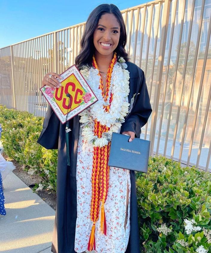 Natalia Bryant Graduates High School As Mom Vanessa Cheers Her On!!!
