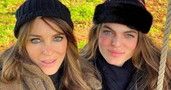 Liz Hurley and Mary