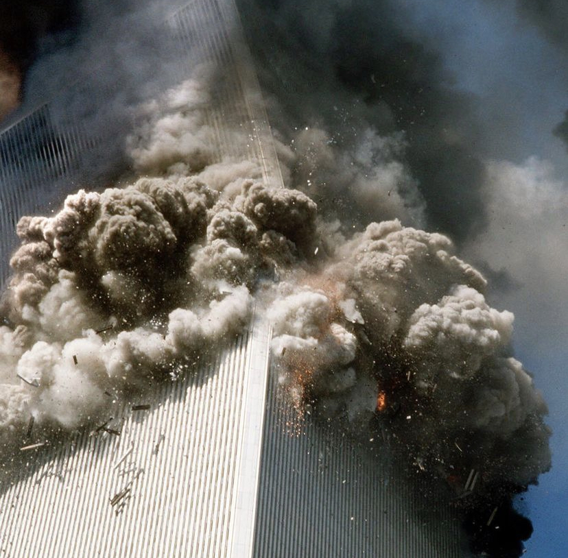 The twin tower during the 9/11 attack