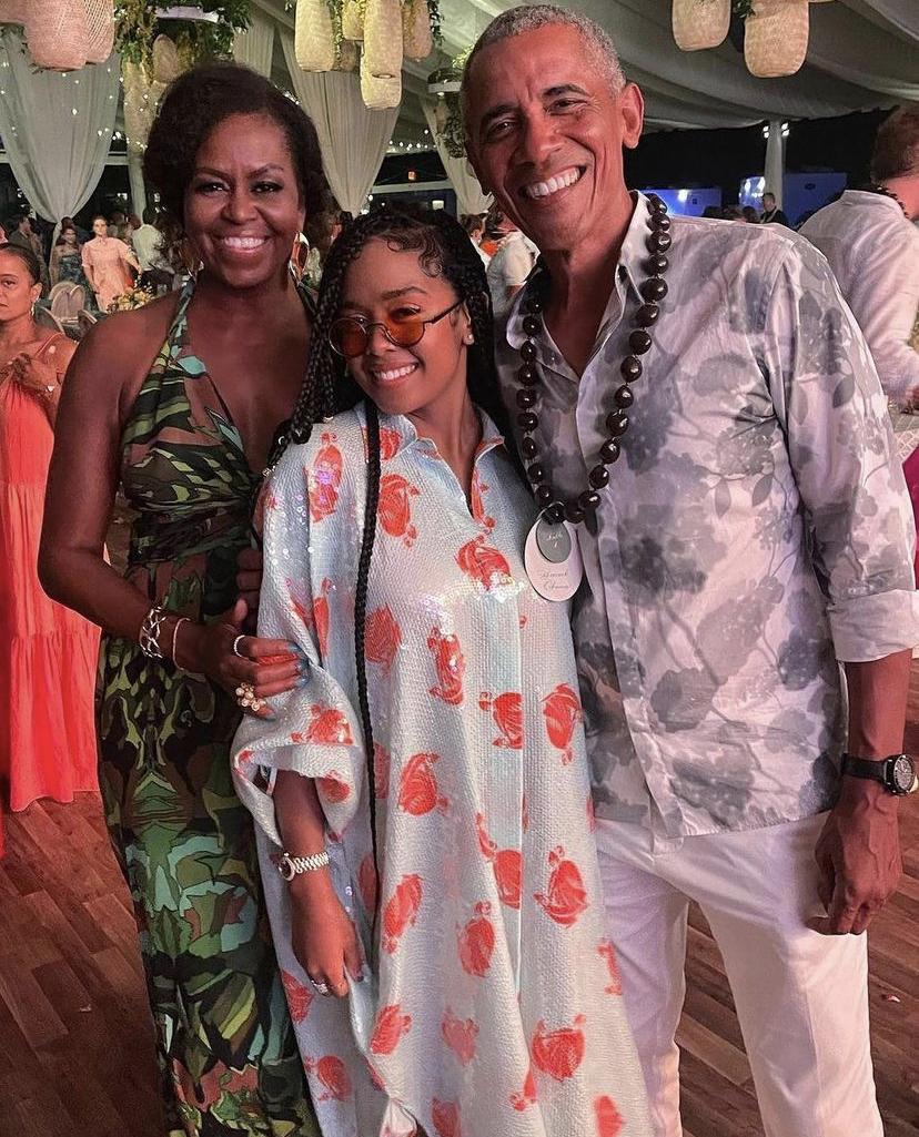 H.E.R with Barack Obama and Michelle Obama