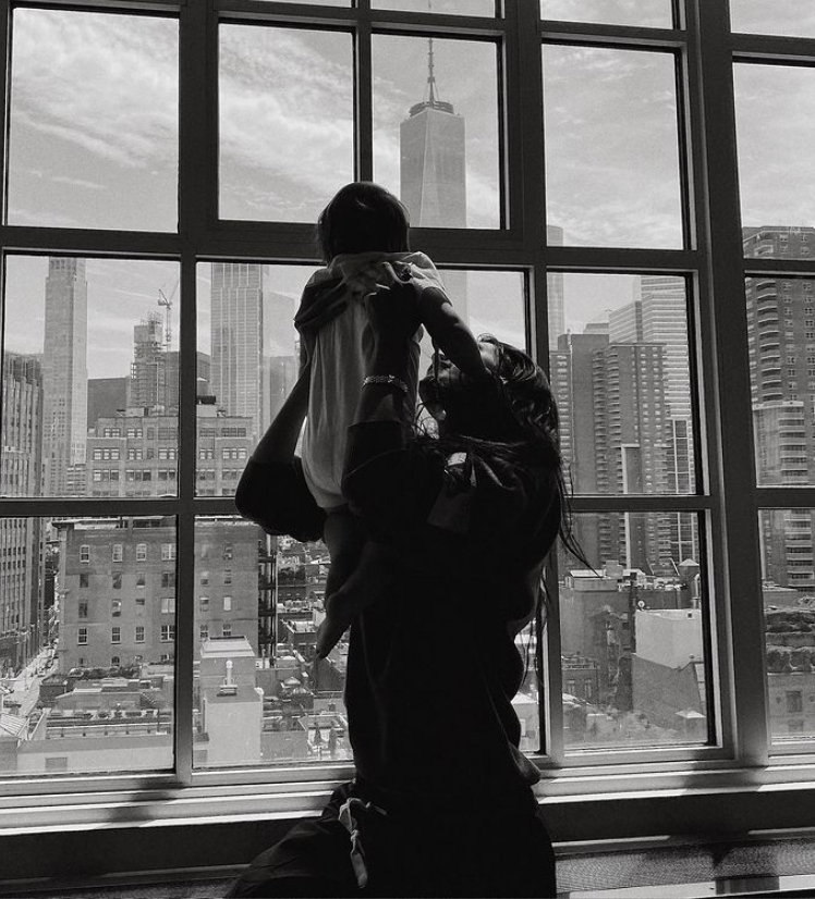 Gigi Hadid with her daughter Khai