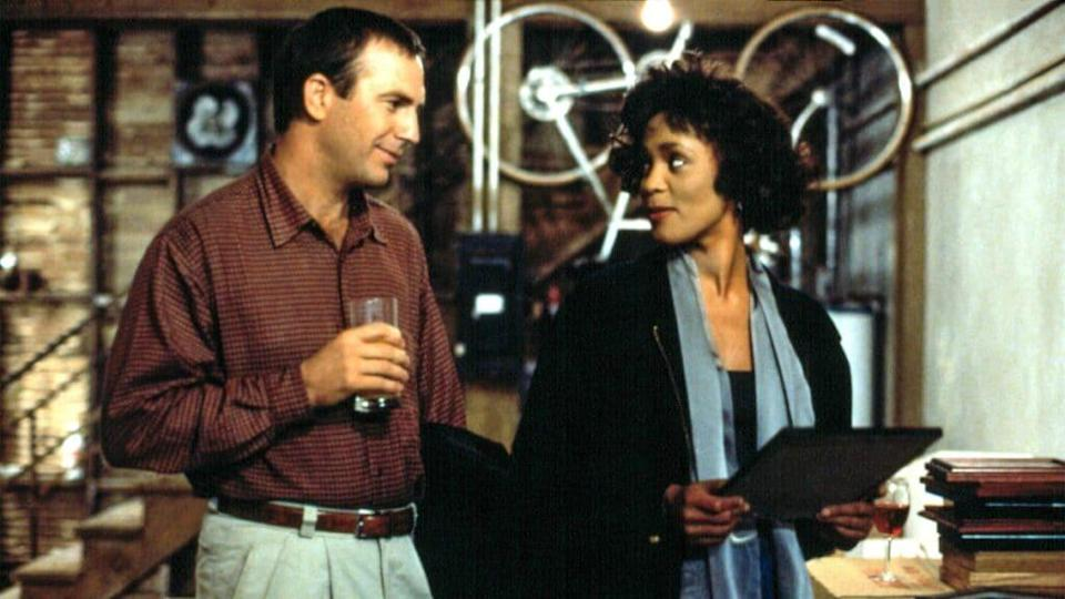 Kevin Costener and Whitney Houston in 'The Bodyguard'