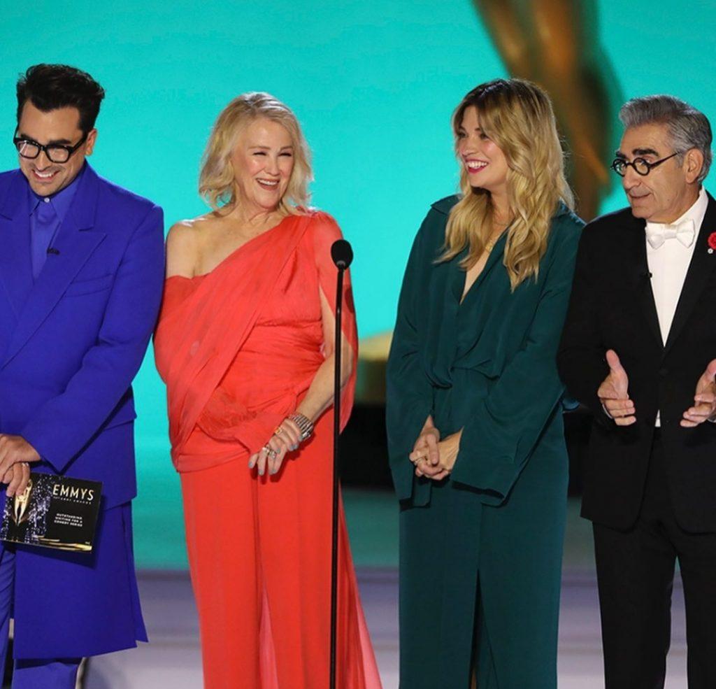 Schitt's Creek reunion at Emmy Awards