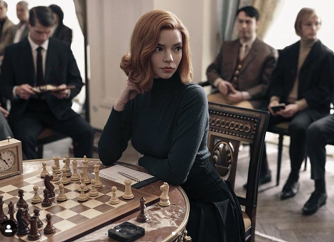 A still from The Queen's Gambit