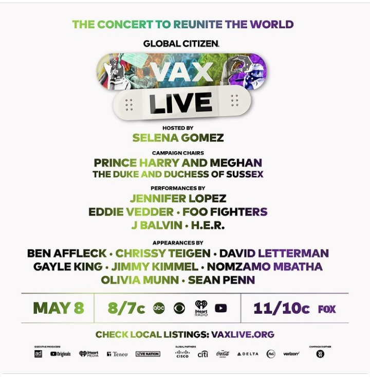 The show hosted by Global Citizen