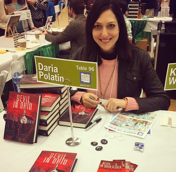 'Devil In Ohio' writer Daria Polatin with her novel